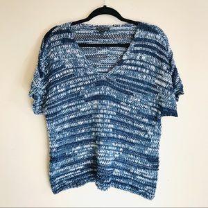 Eileen Fisher V Neck Knit Dolman Layering Sweater